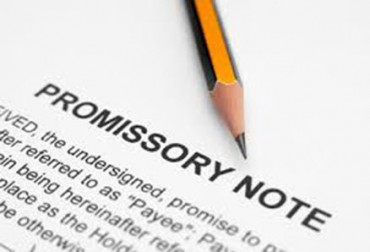 Issuance of Promissory Note