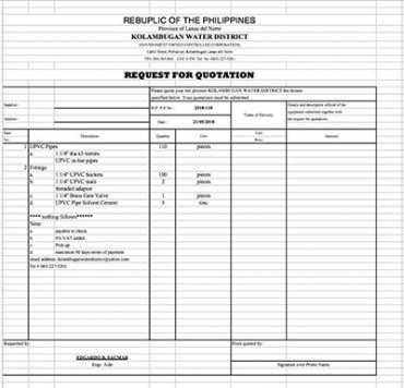 Request for Quotation 2018-118