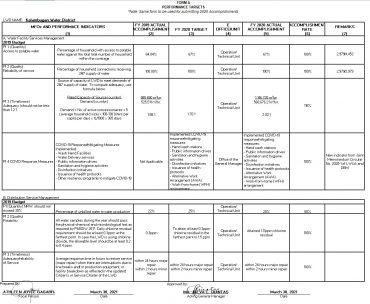 Performance Accomplishments CY 2020 Form A